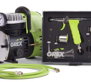 Grex GCK02 Airbrush Combo Kit with Tritium.TS3 AC1810-A Compressor Accessories