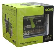 Box Grex GCK02 Airbrush Combo Kit with Tritium.TS3 AC1810-A Compressor Accessories