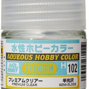 Mr Hobby Aqueous H102 Premium Clear Semi Gloss