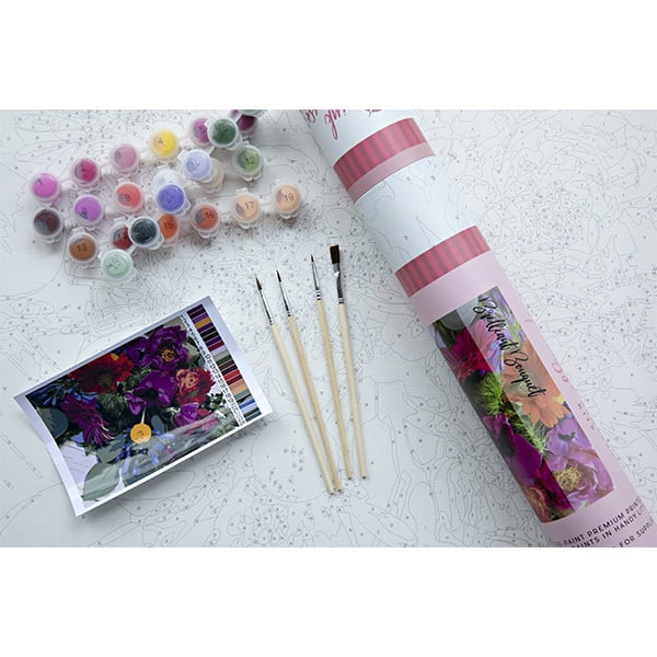Pink Picasso Paint by Numbers Brilliant Bouquet PPK-1620BR