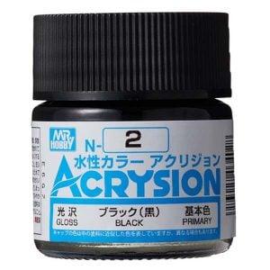 Mr Hobby Acrysion Black Gloss Primary N2