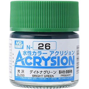 Mr Hobby Acrysion Bright Green Gloss Primary N26