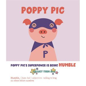 Pink Picasso Kids Paint by Numbers Super Hero Pig PPK-KIDSHP