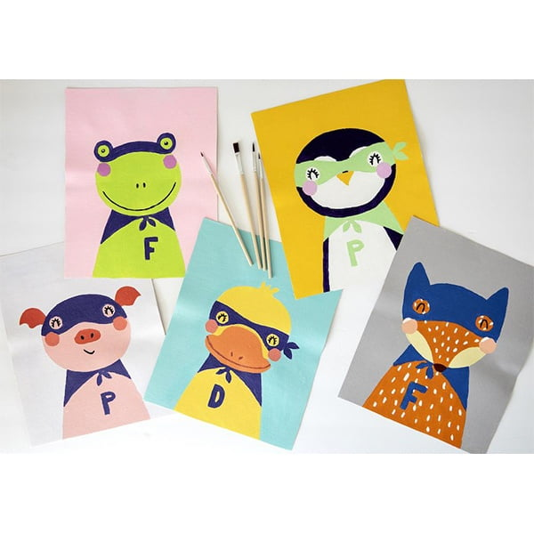 Pink Picasso Kids Paint by Numbers Super Hero Penguin PPK-KIDSPP