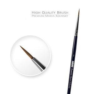 Ammo by Mig Premium Marta Kolinsky Round Brush 1 AMIG8602