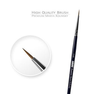 Ammo by Mig Premium Marta Kolinsky Round Brush 2/0 AMIG8601