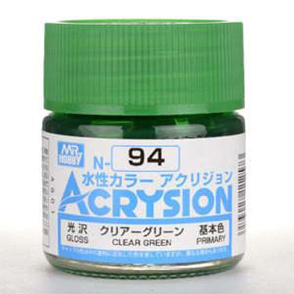 Mr Hobby Acrysion Clear Green Gloss Primary N94