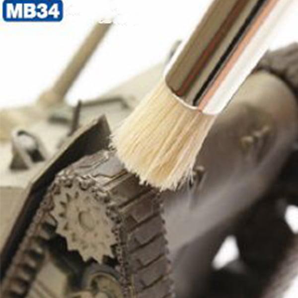 Mr Hobby Mr Weathering Brush Set Extra Large Soft and Hard MB34