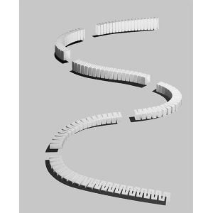 """SubTerrain System - 3% Incline/Decline Set - 6 pcs. 6 sections raise/lower 4 1/2 in (11.4 cm) in a 12 ft (3.65 m) run, each section measuring 2 1/2"""" in x 24"""" (6.35 x 60.9 cm) Incline/Decline Sets include the high-density foam pieces necessary to raise the elevation of your track from 0 to 4½ inches, or lower the elevation of your track from 4½ inches to 0 inches, allowing for a smooth transition from one height to another. Incline/Decline Sets come in either 2%, 3% or 4% grades. Sets are the ideal way to raise or lower the elevation of your track quickly and easily. To install Incline/Decline Sets, pin in place with Foam Nails and attach with Foam Tack Glue™ or the Low Temp Foam Glue Gun and Glue Sticks."""