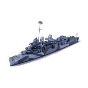 Tamiya 1/700 USS Cushing DD-797 Destroyer 31907