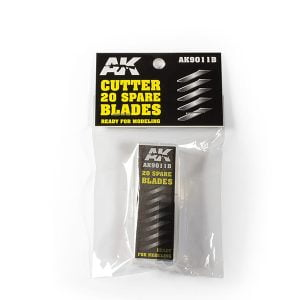 AK Interactive Pack of 20 Replacement Blades High Carbon Steel Cutting Tool 9011B