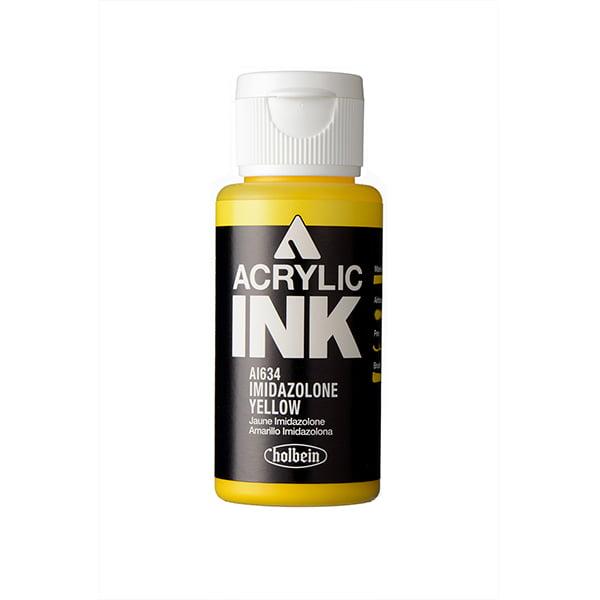 Holbein Acrylic Ink Imidazolone Yellow 30 ml AI634C