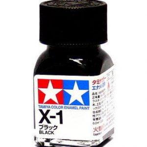 Tamiya Enamel Paint X-1 X1 Gloss Black 80001