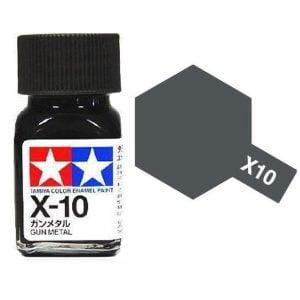 Tamiya Enamel Paint X-10 X10 Gloss Gun Metal 80010