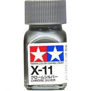 Tamiya Enamel Paint X-11 X11 Gloss Chrome Silver 80011