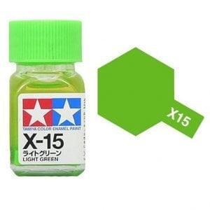 Tamiya Enamel Paint X-15 X15 Gloss Light Green 80015