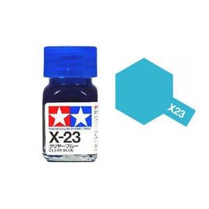 Tamiya Enamel Paint X-23 X23 Clear Blue 80023